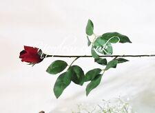 Premium Quality Artificial Flower Single stem silk Red Rose Bud.Valentine's day