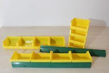 12 gelbe Sichtlagerboxen Größe 1 Stapelboxen Sichtboxen + 3x Wandschiene Schiene