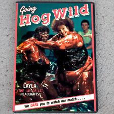 Going Hog Wild (DVD 1988) BBW SSBBW women oil wrestling chocolate female fights