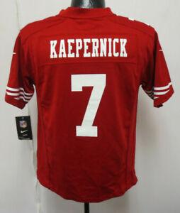 COLIN KAEPERNICK YOUTH KIDS LARGE JERSEY SAN FRANCISCO 49ERS NIKE FOOTBALL RED