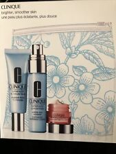 Clinique Turnaround Concentrate-15 Minute Facial-All About Eyes Gift Set W/bag
