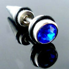 Perfect Cool Punk Men And Women Diamond Puncture Ear Stud Couple Earrings 1 Pair