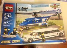 ** BRAND NEW Factory sealed in Box ** Lego City Hubschrauber und Limousine