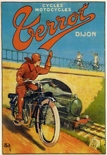"""Moto Terrot Motorcycle- 24""""x36"""" Canvas Motorcycle Poster on Canvas"""