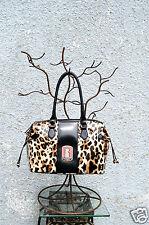 Guess Abrielle Leo Faux Leather Black Brown Leopard G Series Sachtel Handbag New