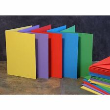Craft UK blank greeting cards & envelopes - A6/C6 size bright colours x 50
