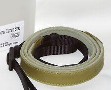 Rugged Leather Fashion Camera Strap #225 (olive): Pentax Nikon Canon Sony Leica