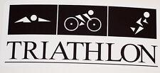 2 Triathlon Decals Swim-Bike-Run Free Shipping