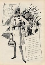 1964 Lord & Taylor PRINT AD Fashion Anne Fogarty Wool Jersey Skirt & Top