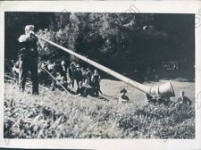 1937 Alphorn Blower At Adelboden In Bernese Oberland Switzerland Press Photo