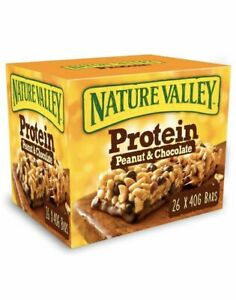 Nature Valley Protein Peanut & Chocolate Gluten Free Cereal Bars Pack Of 26x40g