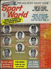 July 1962 First Sport World Magazine - Stan Musial Ted Williams Mantle Mays HOF