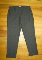 WOMEN'S DARK BROWN DRESS PANTS - J.JILL - SIZE 10P - CUFFED SLIM LEG ANKLE