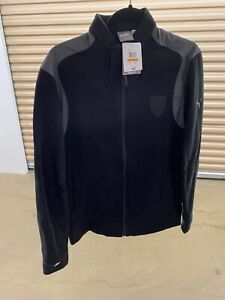 NWT PUMA Ferrari Men's Logo Sweat Jacket Black & Grey - MRSP $90