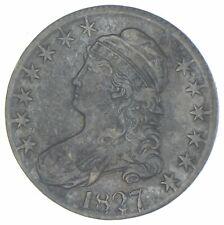 1827 Capped Bust Half Dollar - 0.147 - Curl 2 - R4+ *2925