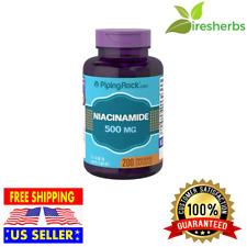 NIACINAMIDE 500mg Vitamin B-3 Energy Booster Skin Health SUPPLEMENT 200 Capsules