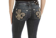 New Miss Me Jeans Sale Mid Rise Fleur Cropped Capri Crop Stretch Dark Jean 25