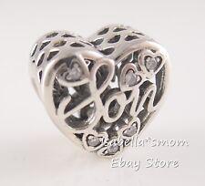 MOTHER & SON BOND Authentic PANDORA Mom DAY Heart Charm 792109CZ NEW w BOX