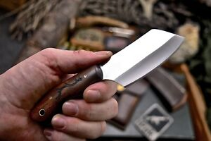 CFK IPAK Handmade AUS-8 Custom DEER ANTLER Engraved Rosewood Small Hunting Knife