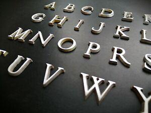 "28mm Small Letter Aluminium Metal sign maker plaque craft pub cast 2.8cm 1"" inch"