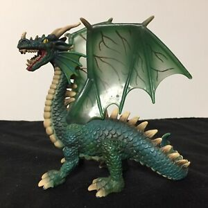 SCHLEICH Mythical Winged GREEN DRAGON 70033 Finely Detailed Monster 2003 - Rare
