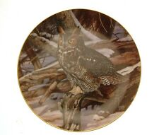 Danbury Mint The Owls of North America Winter Watch owl plate GB96