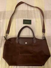 Longchamp Le Pliage Neo Small Shoulder Bag- Brown