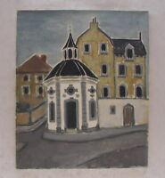 Roskapellchen in Aachen Oel auf Leinwand 70 er Jahre Expressionismus