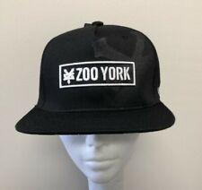 ZOO YORK Snapback Hat / Cap OSFM Black / White NEW