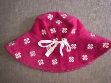 Juicy Couture Terry cloth Floppy Beach Pool Hat Pink