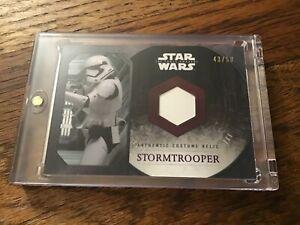 Topps Star Wars The Force Awakens series 1 Stormtrooper Relic Corset purple /50