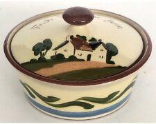Royal Watcombe Torquay Mottoware Cottageware Covered Dish