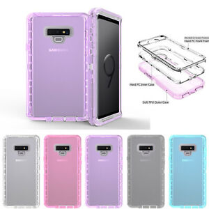 Case Poetic Guardian Clear Hybrid Bumper For Samsung Galaxy Note 9 8 S9 S8 Plus