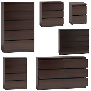 MODERN - WENGE WALNUT Chest Of Drawers And Bed Side IKEA STYLE