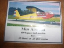 "Vintage ""Miss America""Model Aircraft Plans"