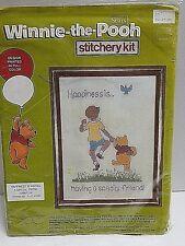 Winnie the Pooh Happiness is Sampler Stitchery Kit Walt Disney Sears Vintage NOS