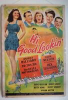 Genuine 1944 Hi,Good Lookin' Poster~Delta Rhythm Boys, Ozzie&Harriet w/ Hanger!