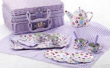 Delton Children's Tin Tea Set for 4-Medium Size-Colorful Circles # 8000-3