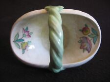 ART DECO CROWN DUCAL #9109 HAND-PAINTED POSY BASKET c.1916-1920's EX