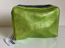 NEW! LESPORTSAC EXTRA LARGE GREEN SNAKE COSMETIC POUCH BAG ORGANIZER CLUTCH $28