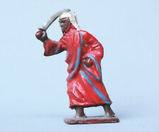 CRESCENT TOYS LEAD ARAB with SCIMITAR (RED ROBE/LIGHT BLUE TRIM) ~ OLD STOCK