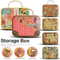 Retro Mini Rolling Travel Suitcase Box Wedding Favors Party Reception Candy