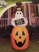New Halloween 7 Foot Gemmy Pumpkin/Ghost/Cat Stacker Airblown/Inflatable Decor