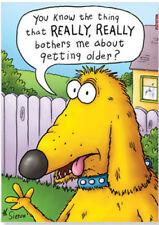 Oatmeal Studios Bothers Me About Getting Older Funny Birthday Card
