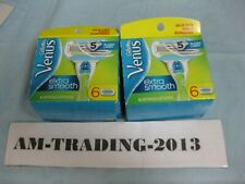 2X Gillette Venus Extra Smooth Refill  5 Blades 6 Cartridges (12 total)