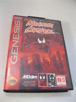 Maximum Carnage (Sega Genesis, 1994) Video Game and Case No Instructions
