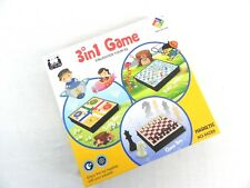 3 IN 1 SOLID PASTIC BOARD CHESS LUDO SNAKES AND LADDER GAME SET ALL IN ONE