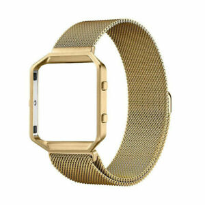 Fitbit Blaze Milanese Magnetic Stainless Loop Wrist Band Strap + Frame US seller