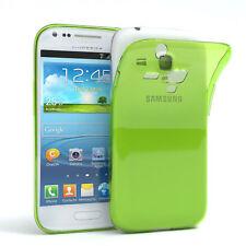 Ultra Slim Cover für Galaxy S3 Mini Case Silikon Hülle Transparent Grün