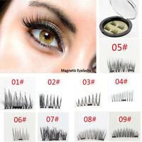 2 Pairs Magnetic Eyelashes 3D Handmade Reusable False Magnet Eye Lashes Set New